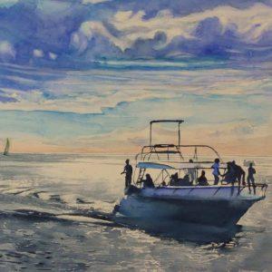 artist-painting-soleil-couchant-sur-albion-riaz-auladin