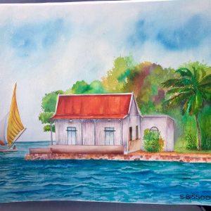 artist-samanta-bissoondyal-ramguttee-mouchoir-rouge