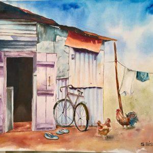 buy-painting-samanta-bissoondyal-ramguttee-la-case-d'albion