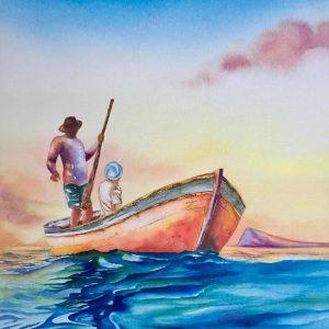 buy-painting-samanta-bissoondyal-ramguttee-les-deux-pecheurs