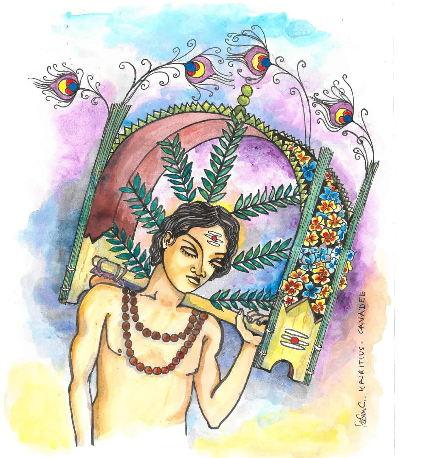 mauritian-artist-palmesh-cuttaree-artist-cavadee