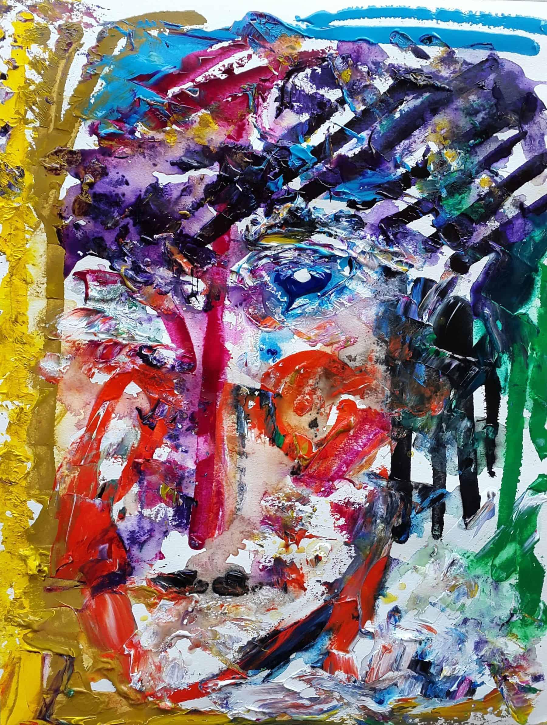 Mauritius Arts & Artists - salonee-nirsimloo-lallah-behind-the-emotions-acrylic