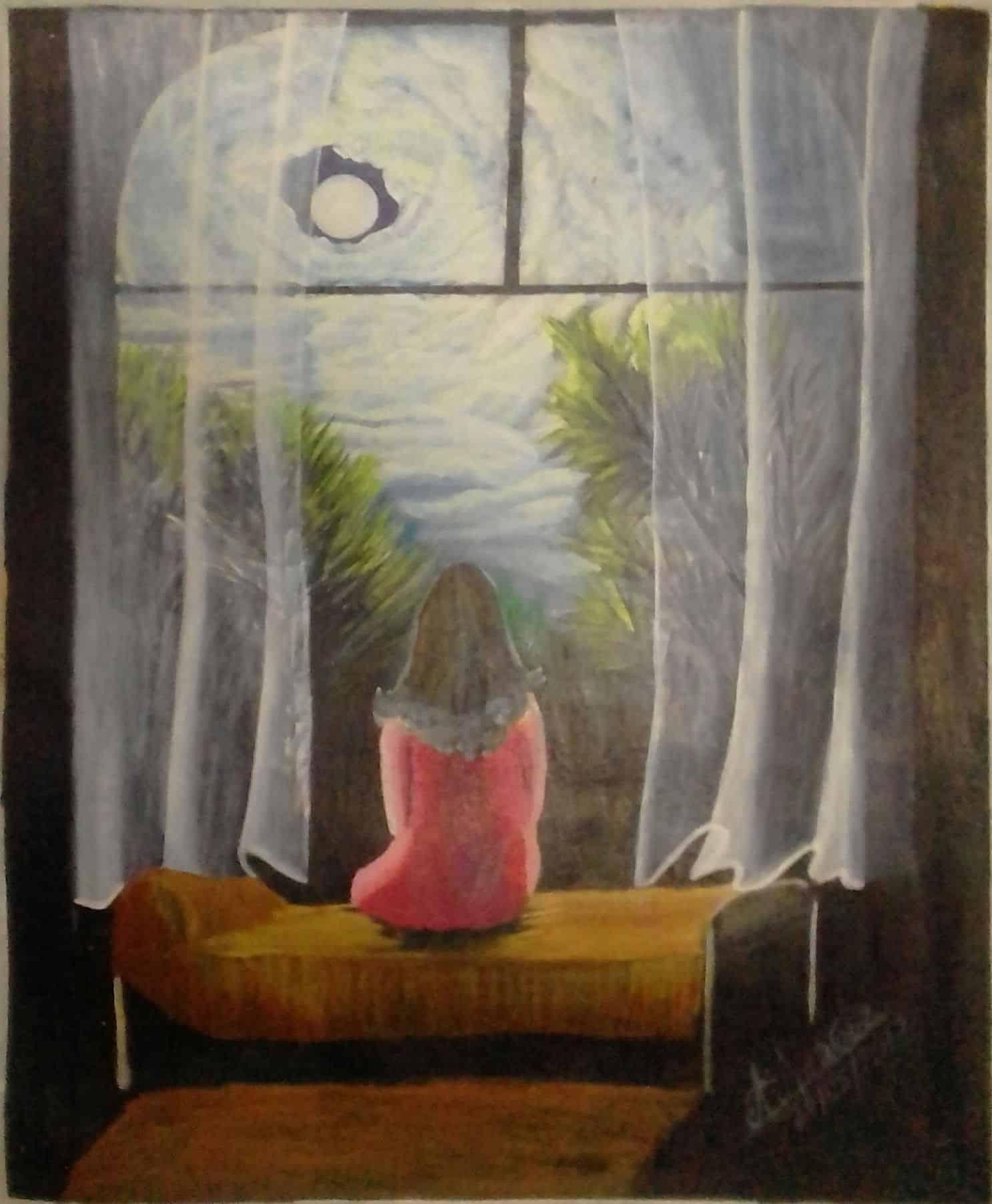 Mauritius Arts & Artists - mauritius-arts-asha-nawoor-moonlight-view