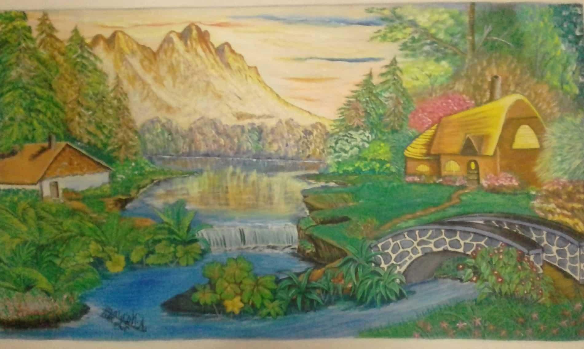 Mauritius Arts & Artists - mauritius-arts-asha-nawoor-mountain-view