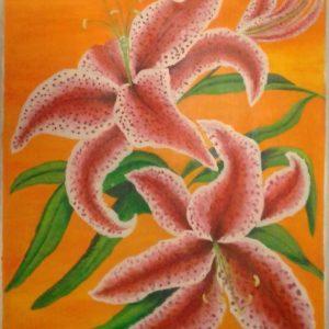 Mauritius Arts & Artists - mauritius-arts-asha-nawoor-orchid-painting