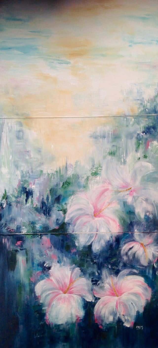 Mauritius Arts & Artists - mauritius-arts-pamela-saramandif-misty-morning-walk