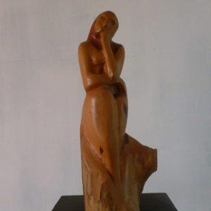 Mauritius Arts & Artists - mauritius-arts-vynaud-dussoa- femme-assise