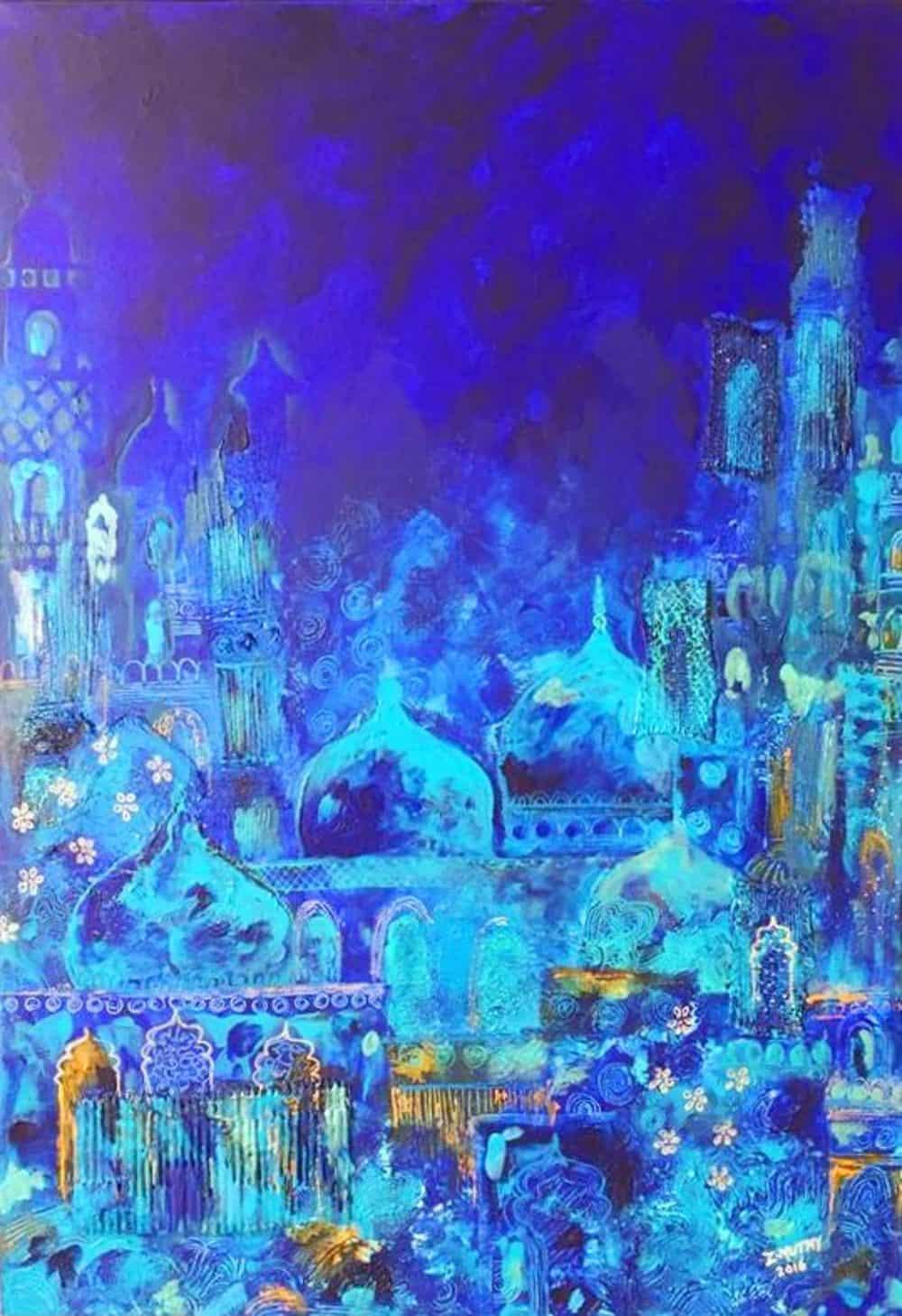 Mauritius Arts & Artists - mauritius-arts-zahiirah-mutty-the-blue-mosque