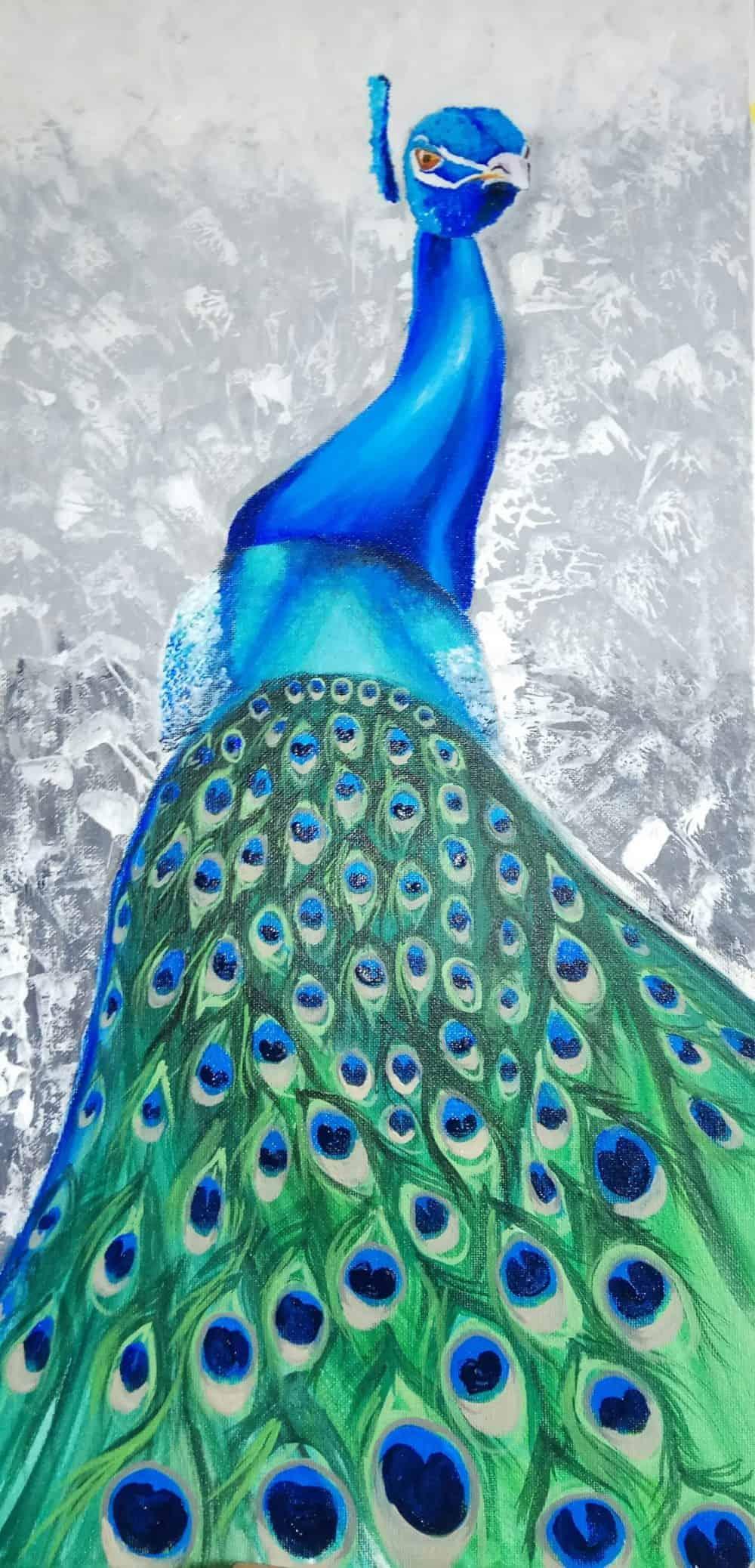 Mauritius Arts & Artists - mauritius-arts-avinash-dwarku-peacock