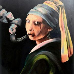 mauritian-artist-alexandrine-belle-etoile-girlwithapearlearringreinterpretation
