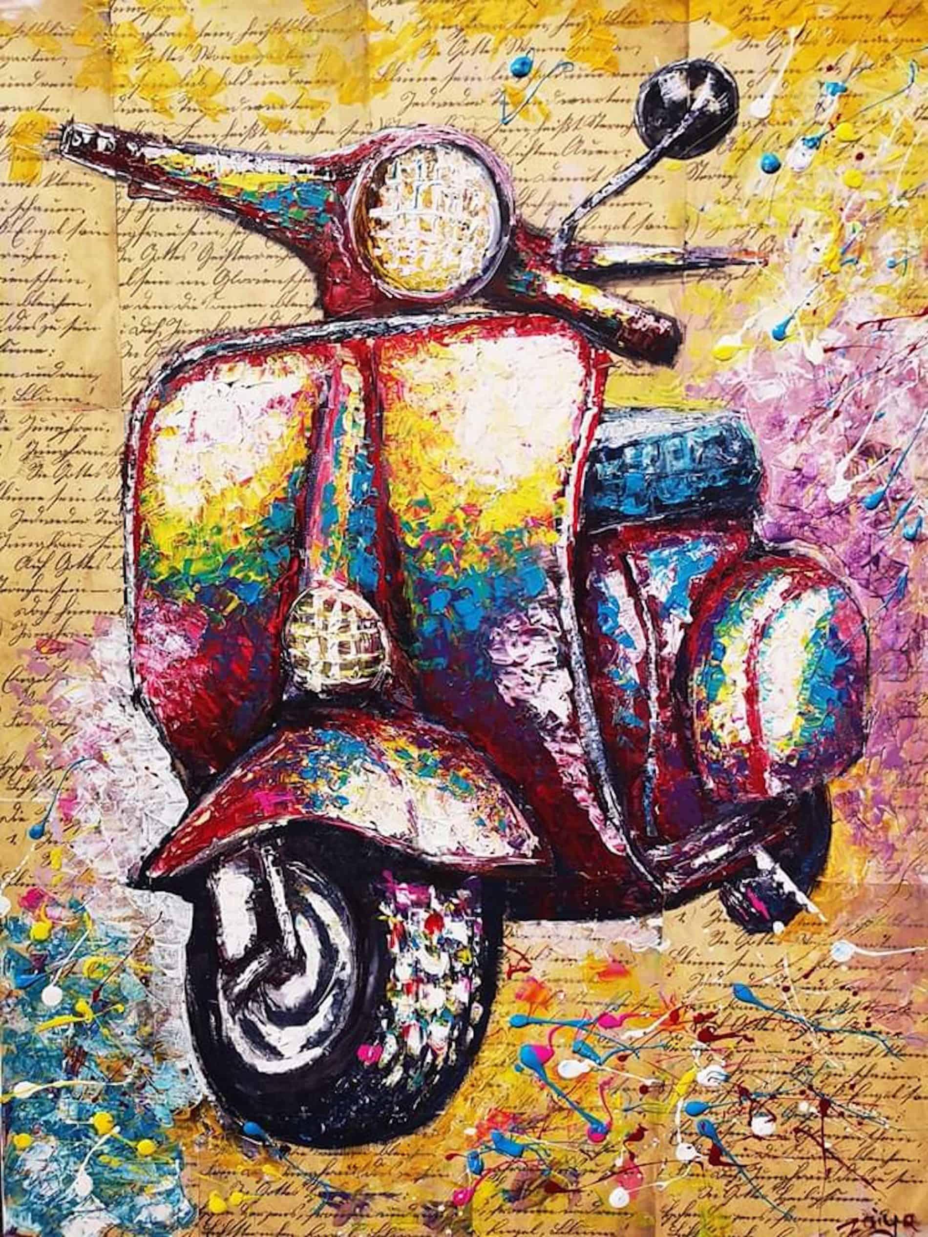 mauritius-arts-zaiya -torabally-scooter