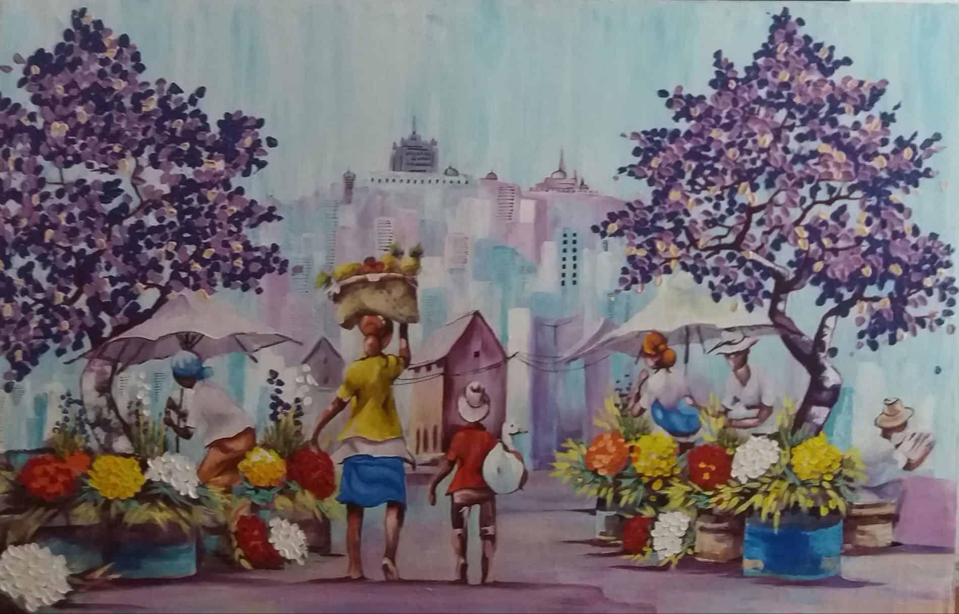 mauritius_arts_hurreeram_andhya_market_scene